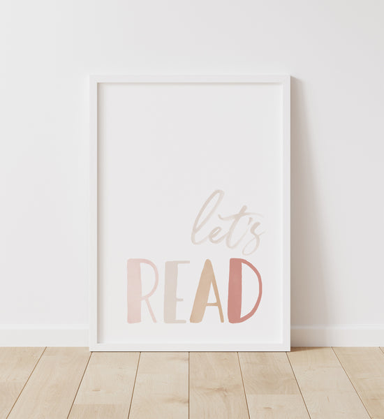 Let's Read Let's Play - Set of 2 Prints