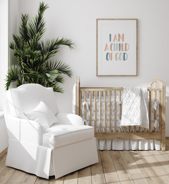 I am a Child of God Print - Muted Pastel