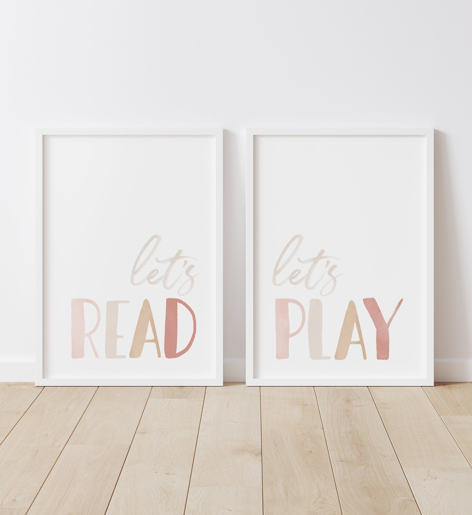 Let's Read, Let's Play - Pink and Neutral