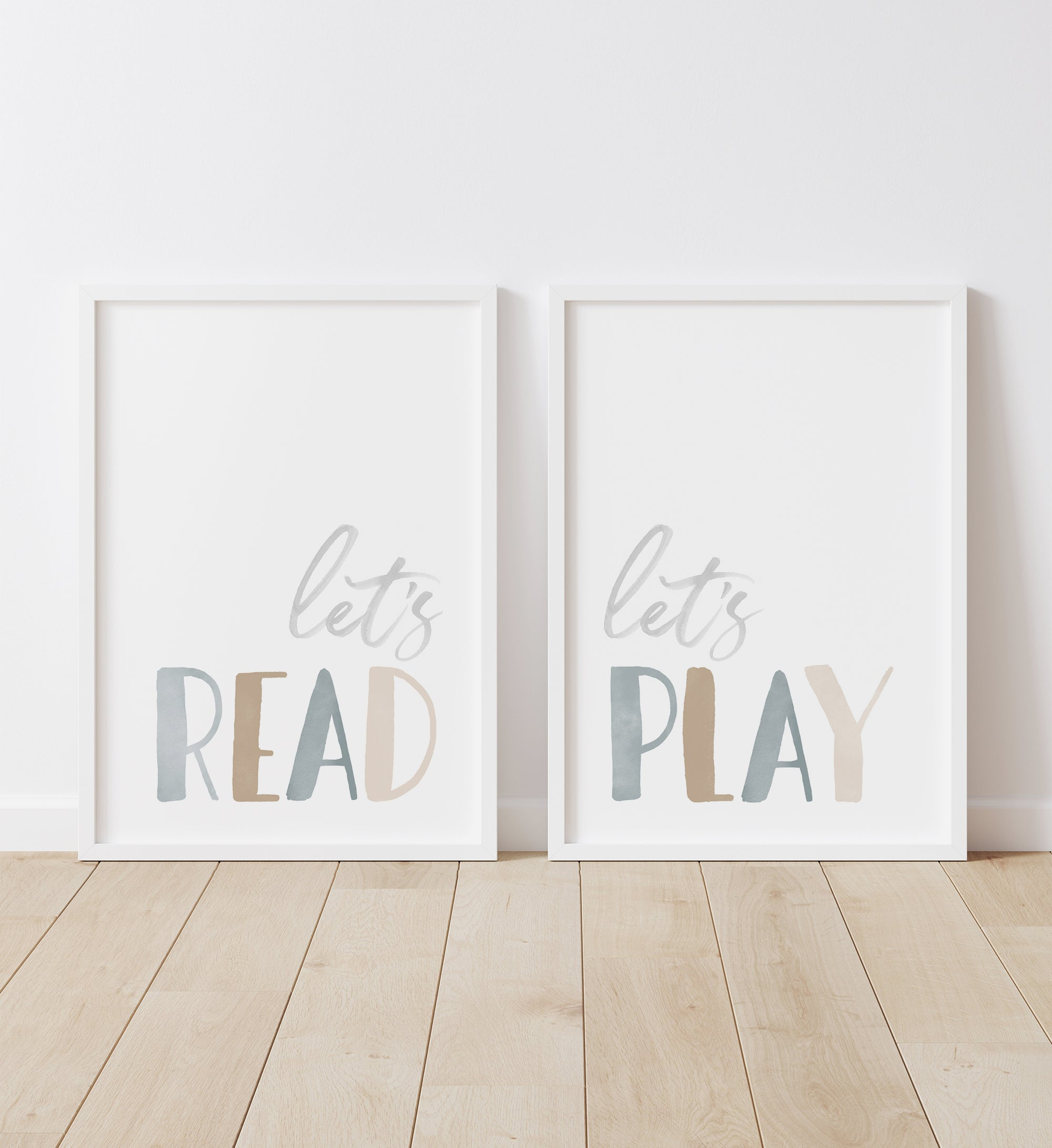 Let's Read, Let's Play - Blue and Neutral