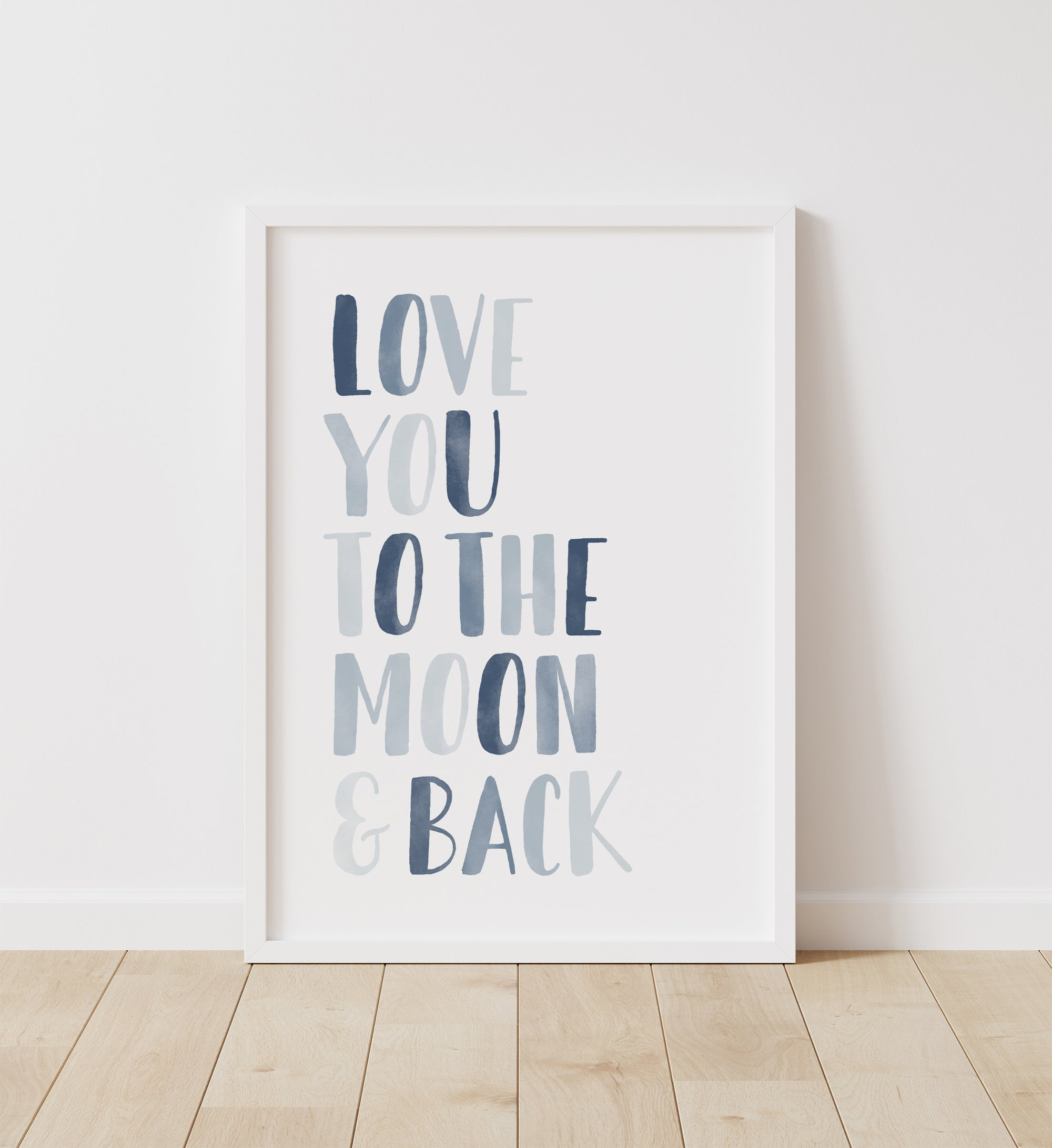 Love You to the Moon and Back - Navy