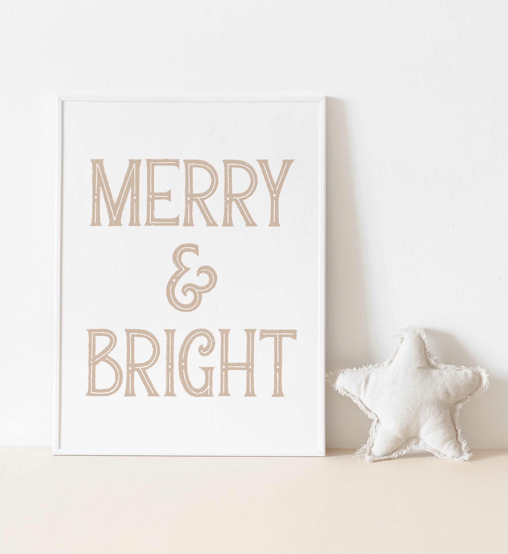 Gold Merry & Bright Print