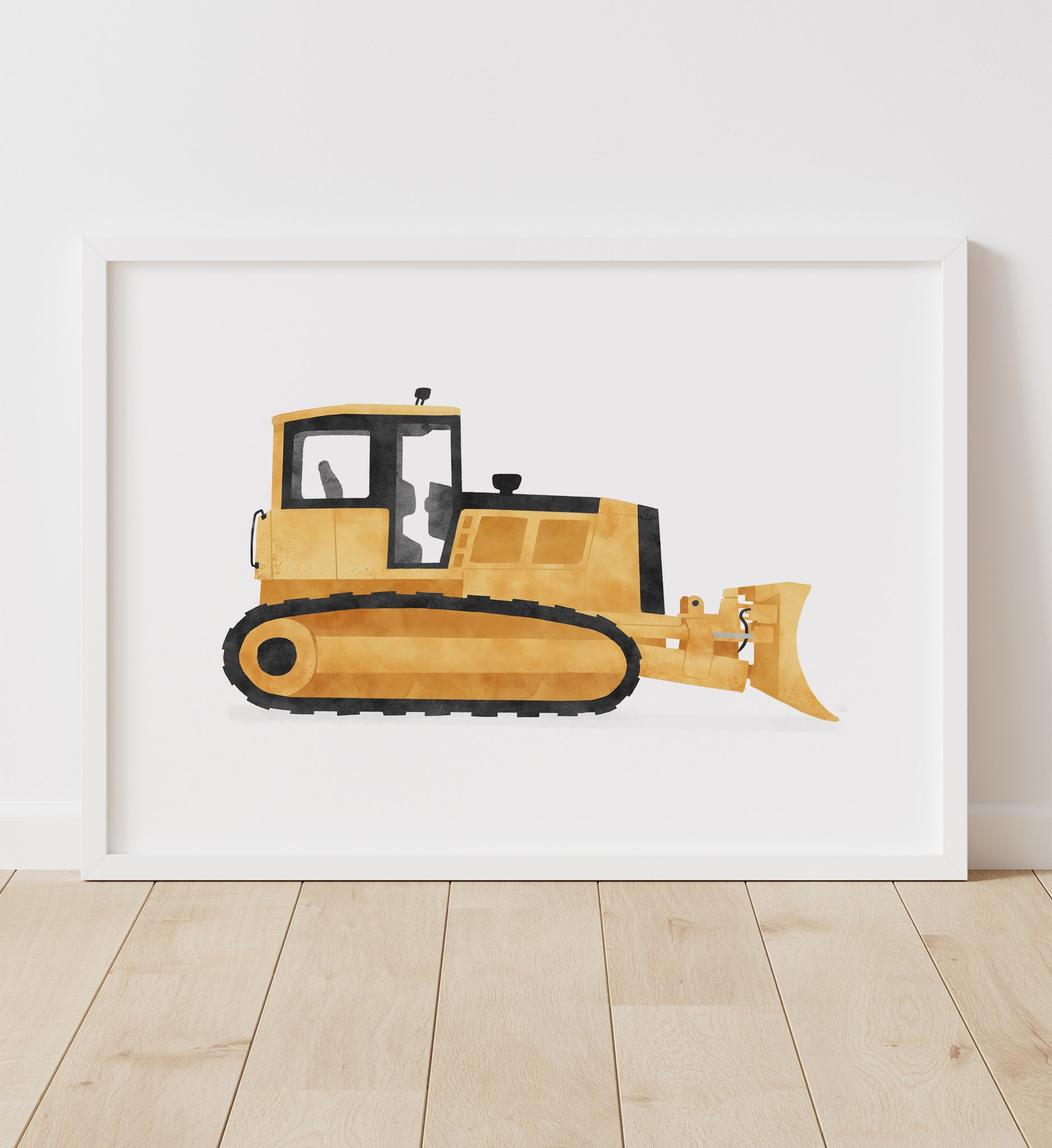 Yellow Bulldozer Print