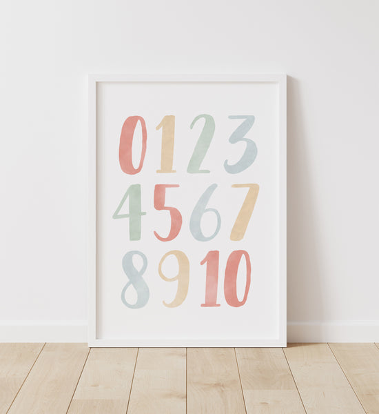 Rainbow Alphabet and Numbers Set of 2 Prints