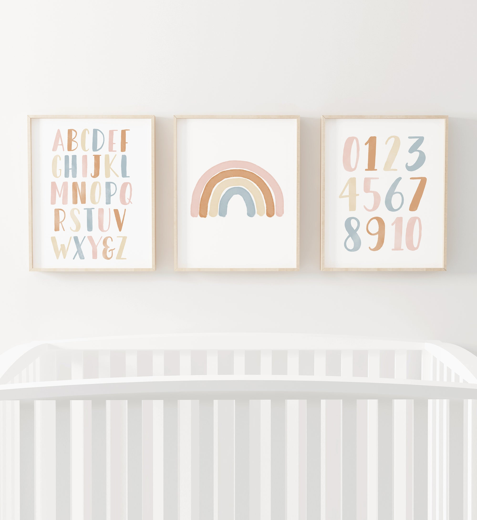 Rainbow, Alphabet & Numbers - Boho