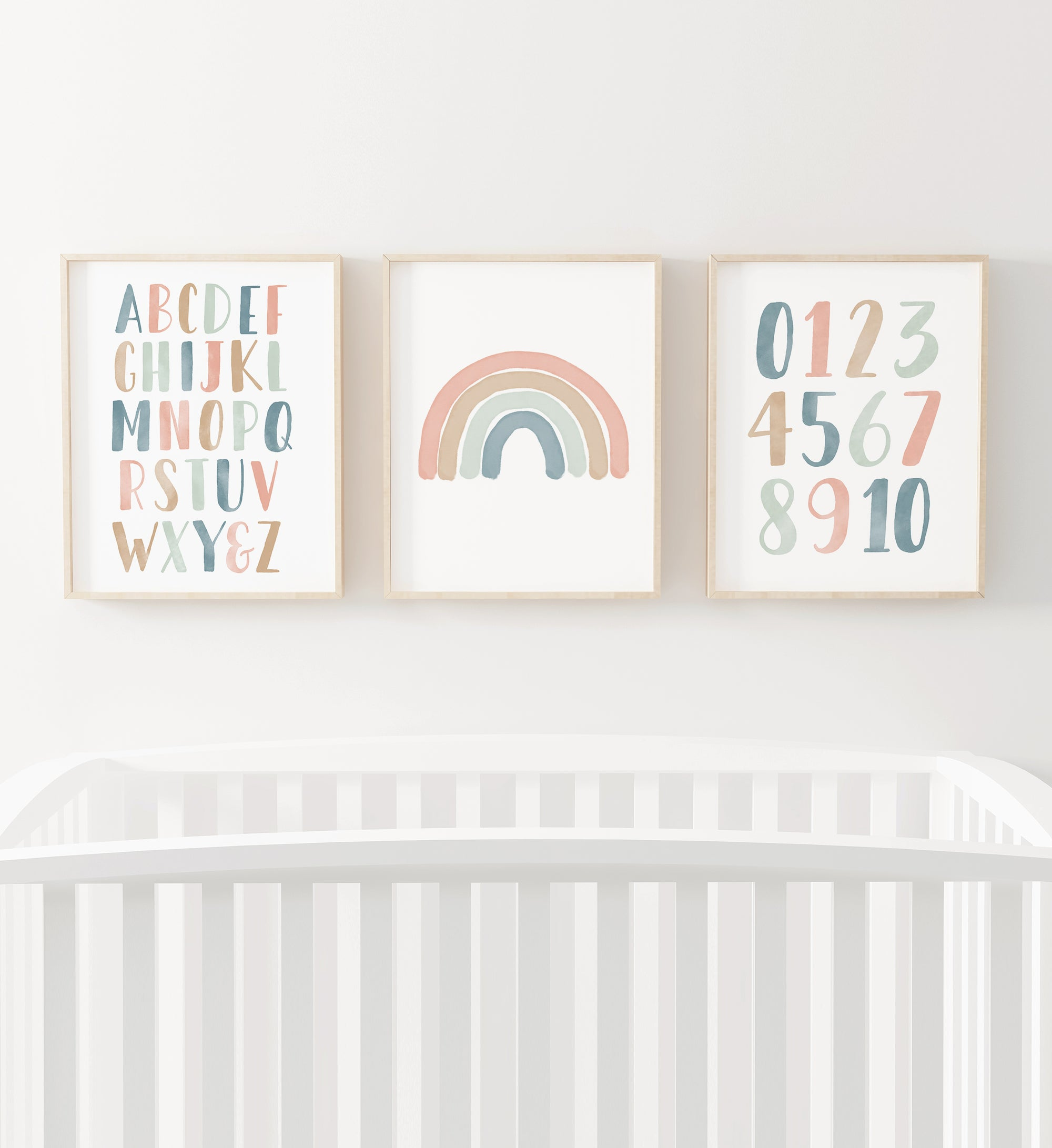 Rainbow, Alphabet & Numbers - Muted