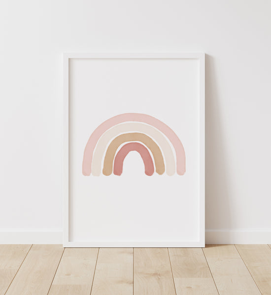Neutral Rainbow, Alphabet, and Numbers Set of 3 Prints