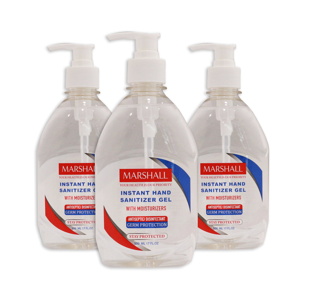 Instant Hand Sanitizer Gel 500ml (Pack Of 3, Only UAE)