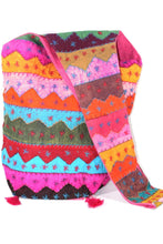 Load image into Gallery viewer, Carnival Wave Patchwork Jhola Bag