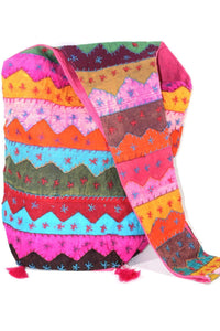 Carnival Wave Patchwork Jhola Bag