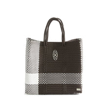 Load image into Gallery viewer, MEDIUM BROWN WHITE TOTE BAG
