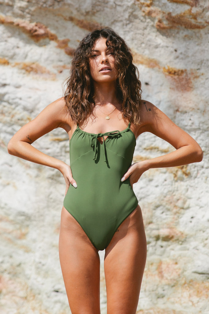 Evie One Piece // Olive Ribbed
