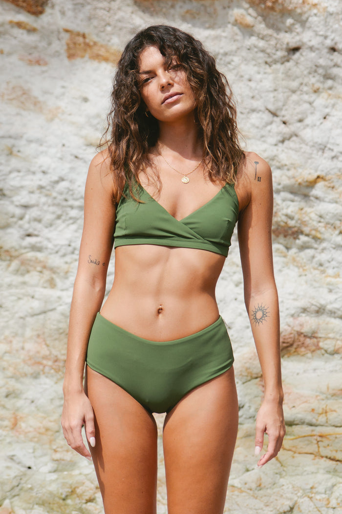 Stevie Full Bottom // Olive Ribbed