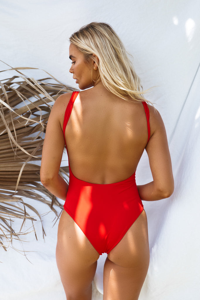 Fia Underwire One Piece // Baywatch Red