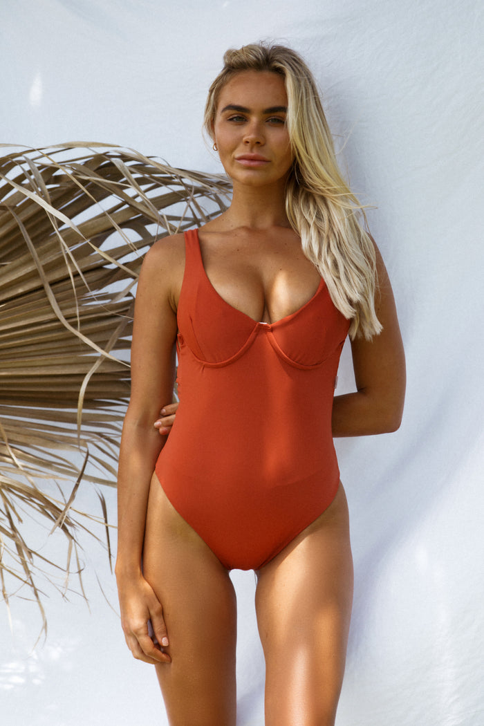 Fia Underwire One Piece // Clay