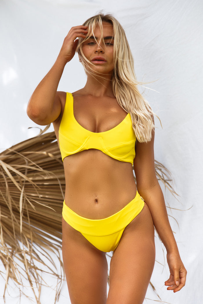 Kendall Waistband Bottom // Lemon Yellow