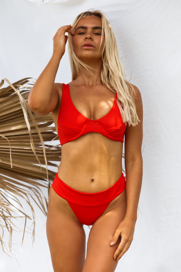 Kendall Waistband Bottom // Baywatch Red