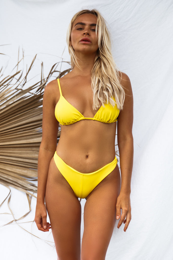 Mae Tri Top // Lemon Yellow