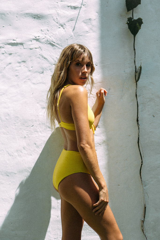 Mila High Waist bottom // Mustard