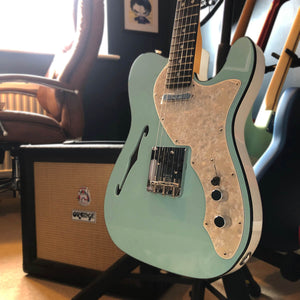 Fender Ltd Edition Two-Tone Telecaster Thinline in Daphne Blue
