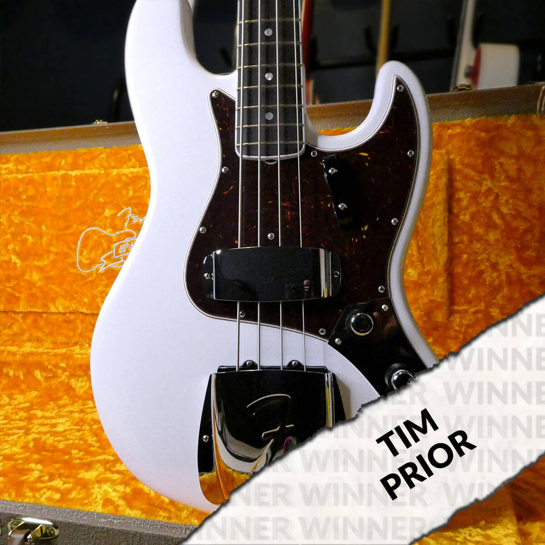 Fender 60th Anniversary Jazz Bass in Arctic Pearl