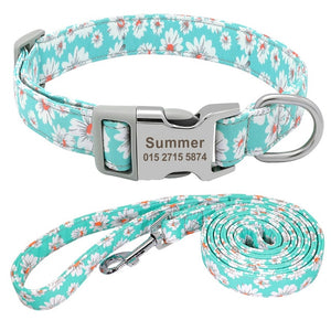 Customized Dog Collar Nylon Personalized