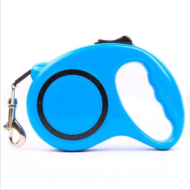 Dog Accessories Automatic Retractable Blue