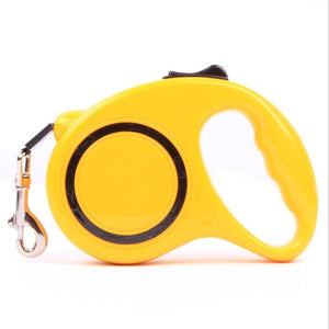 Dog Accessories Automatic Retractable Yellow