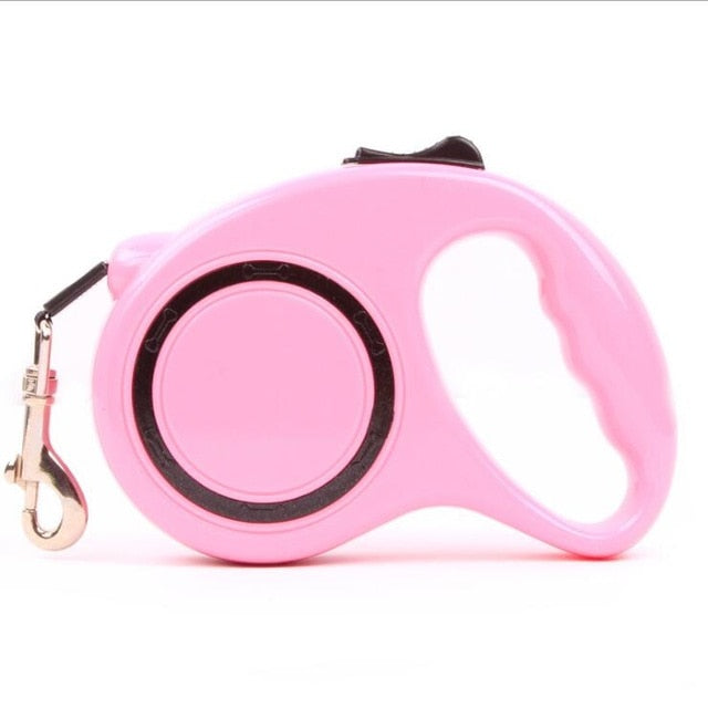 Dog Accessories Automatic Retractable Pink