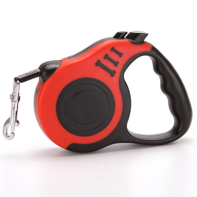 Dog Leash for Small Medium Dogs Retractable Red
