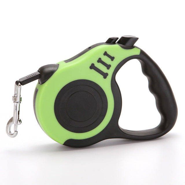 Dog Leash for Small Medium Dogs Retractable Green