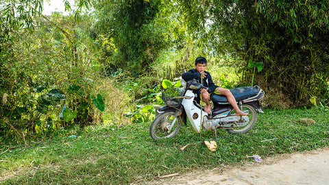 Daniella Mangakis - Boy On Motorbike In Vietnam, 2020