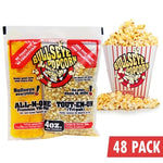 BOX OF 48 PREPACKED PORTIONS OF 4OZ POPCORN