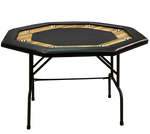 FOLDING OCTAGONAL POKER TABLE 8 PLAYERS