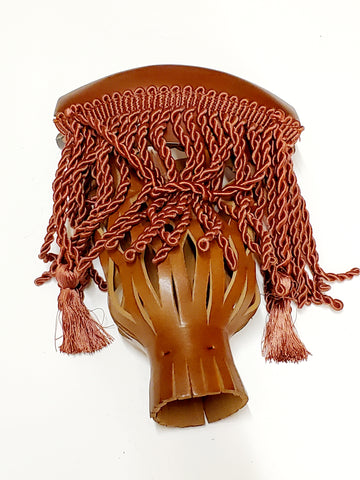 BROWN CINAMMON TASSEL BILLIARD POCKET