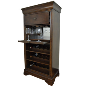 BAR CABINET WITH WINE RACK