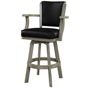 BACKED SWIVEL BAR STOOL WITH ARMS