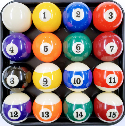 2 1/4 POOL BALL SET