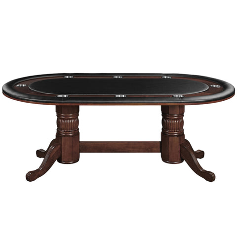 TEXAS HOLD'EM GAME TABLE 84 INCH WITH OPTIONAL DINING TOP
