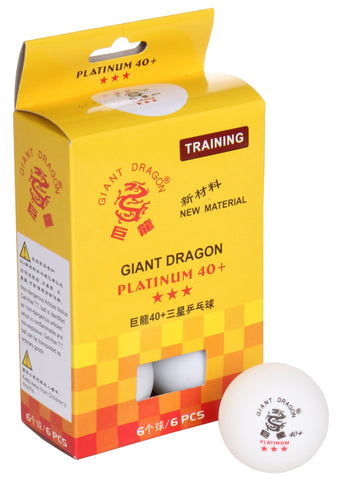 GIANT DRAGON PLATINUM 40+ PING PONG BALLS 3 STAR