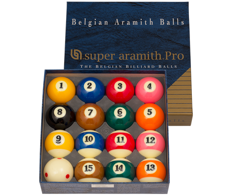 2 1/4 ARAMITH SUPER PRO T.V. POOL BALL SET(RED SPOTTED CUE BALL)