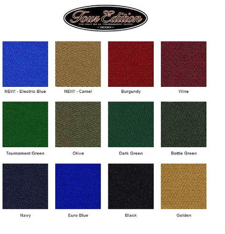 TOUR EDITION BILLIARD CLOTH 7FT, 8FT, or 9FT