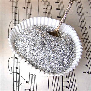 German Glass Glitter-Silver
