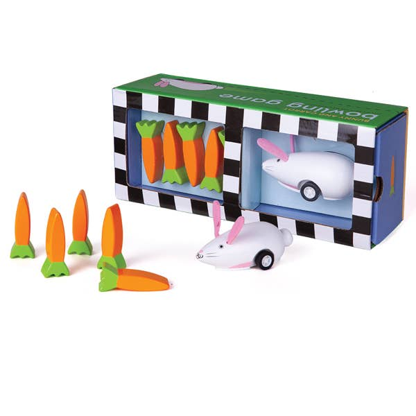 Rabbit and Carrot Bowling Toy