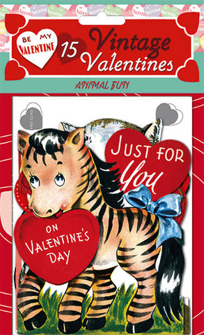 Die Cut Vintage Valentines -Fun With Animals