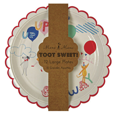 TOOT SWEET CHILDREN'S PARTY PLATES