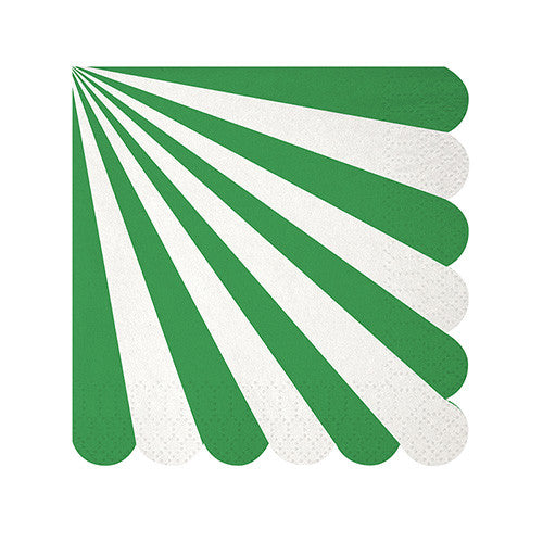 Toot Sweet Green Stripe Small Napkin