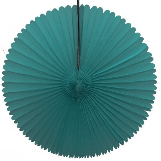 "Honeycomb Fan-13"" Teal"