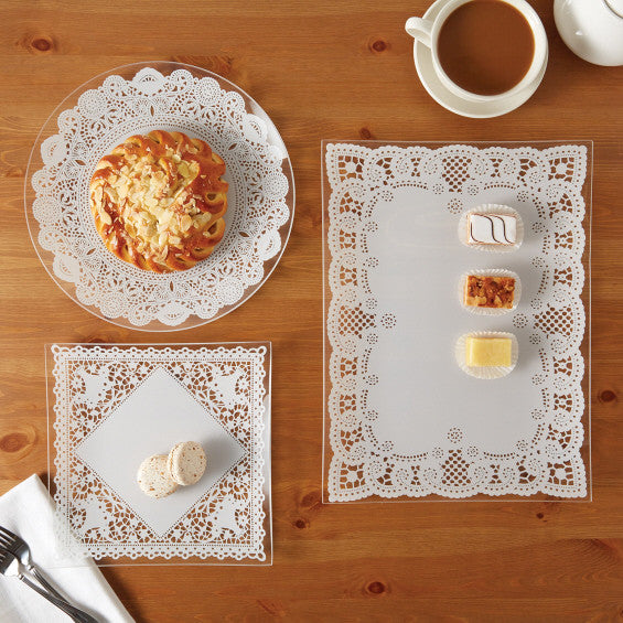 Lace Doily Platter Set