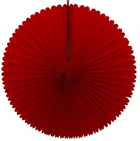 "Honeycomb Fan-13"" Red"